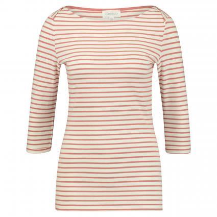 Shirt 'Dalena' mit Streifenmuster ecru (1443 off white-cinna) | S