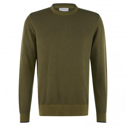 Pullover 'Laaso' mit feiner Musterung oliv (1327 military green-) | S