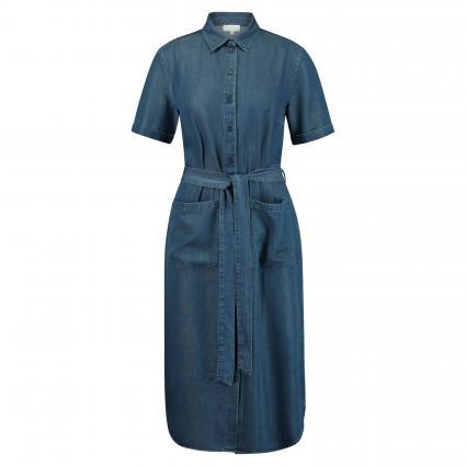 Kleid 'Maaisa' mit Bindegürtel blau (1306 basic denim blu) | S