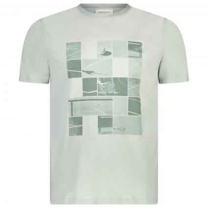 T-Shirt 'Jaames' mit frontalem Tennis-Druck  blau (1313 belgian blue)   L