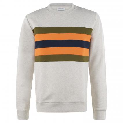 Sweatshirt 'Yaarick' mit Streifenmuster ecru (1077 ecru melange) | L