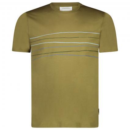 T-Shirt 'Jaames' mit Frontalem-Print  oliv (1312 military green) | XXL