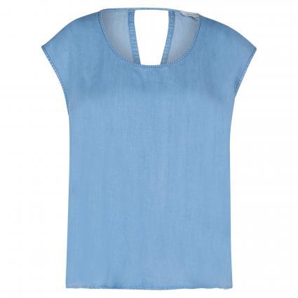 Ärmellose Bluse 'Saava' in Denim-Optik blau (1408 light denim blu) | S