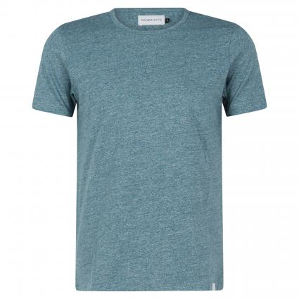 T-Shirt mit melierter Optik türkis (634 light atlantic) | XL