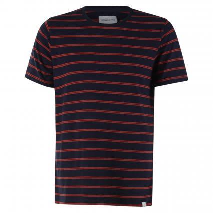 Streifen T-Shirt mit Rundhalsausschnitt marine (630 night sky) | L