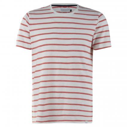 Streifen T-Shirt mit Rundhalsausschnitt rot (414 grenadine) | XL