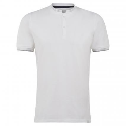 Poloshirt mit Stehkragen weiss (107 bright white) | S