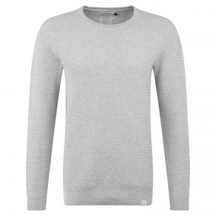 Pullover mit Strukturmuster grau (151 grey melange)   XXL