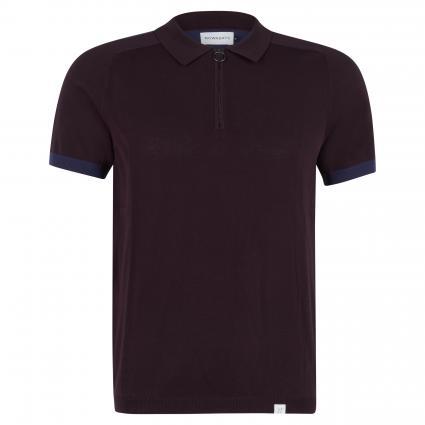 Poloshirt mit Zipper bordeaux (533 dark bordeaux) | M