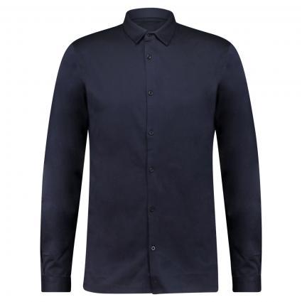 Slim-Fit Hemd aus Jersey marine (670 sky captain) | S