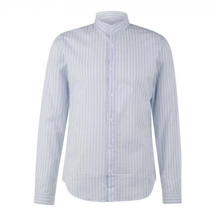 Leichtes Slim-Fit Hemd mit Streifenmuster blau (673 zen blue)   XXL
