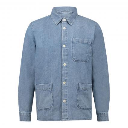 Jacke im Denim-Look blau (673 zen blue) | L