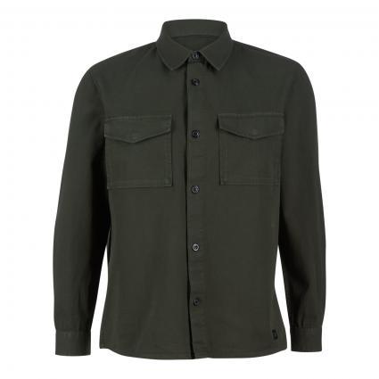 Jacke mit Knopfleiste  grün (751 mineral green) | XL