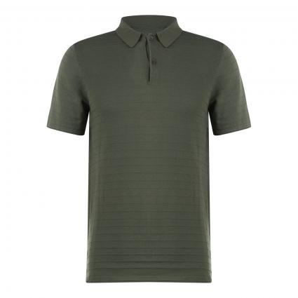 Poloshirt mit Strukturmuster grün (751 mineral green) | XXL