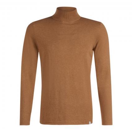 Pullover mit Stehkragen cognac (922 cinnamon) | XXL