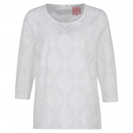 Bluse 'Edisa L' mit Rundhalsausschnitt weiss (100 white) | 38