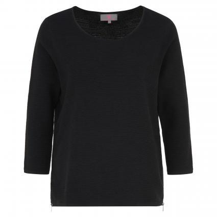 Strickpullover 'PaulaL' mit modischen Zipperdetails schwarz (999 black) | 38