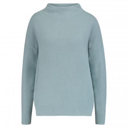 Pullover 'Hendrika L' mit Stehkragen blau (500 menta blue) | 46