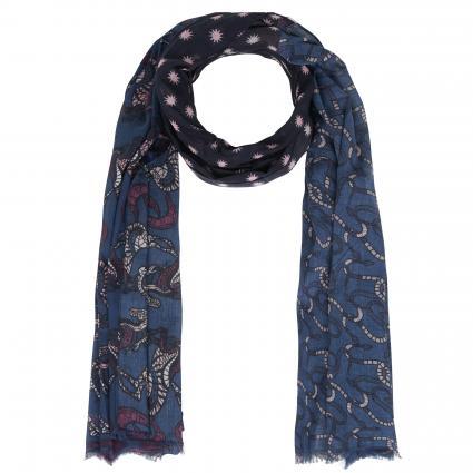 Echarpe'Madelaine L' avec motif bleu (460 jeans) | 0