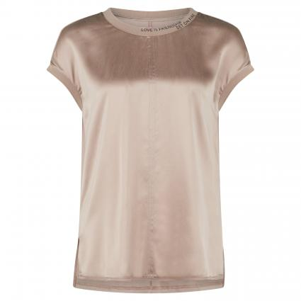 Bluse 'ClairL' mit Statement-Stickerei  braun (660 hazelnut) | S