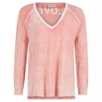 Pullover 'Torra L' mit V-Ausschnitt rose (278 terracotta) | 44