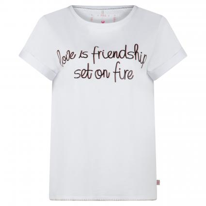 T-Shirt 'Druana W' mit Print weiss (100 white) | XL
