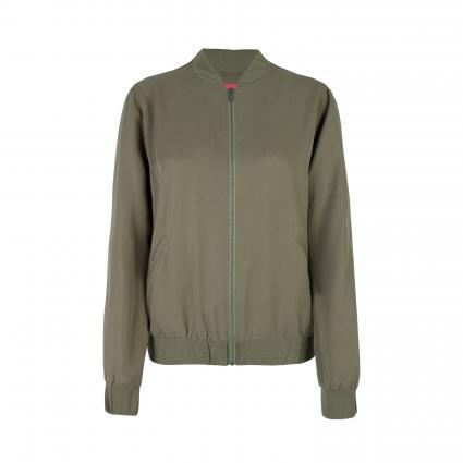 Jacke im Blouson-Optik 'Rilja' grün (585 thyme) | 40