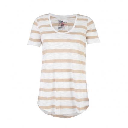 T-Shirt 'Marisol L' mit Streifenmuster beige (130 beige) | XL