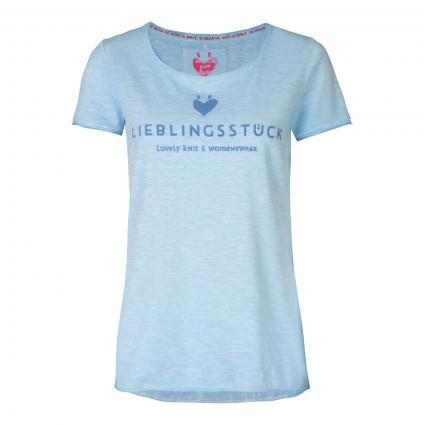 T-Shirt 'Cia' aus Baumwolle blau (432 skyway) | M
