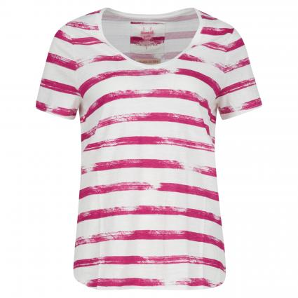 T-Shirt 'Mariso' mit Streifenmuster pink (841 magenta) | XS