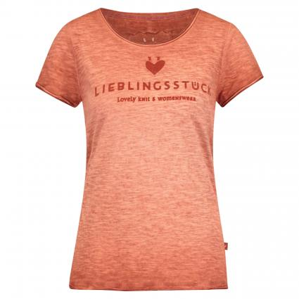 T-Shirt 'Cia' aus Baumwolle braun (720 mahagoni) | XXL