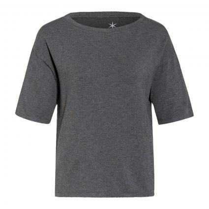 T-Shirt mit Rundhalsausschnitt anthrazit (987 charcoal melange) | L