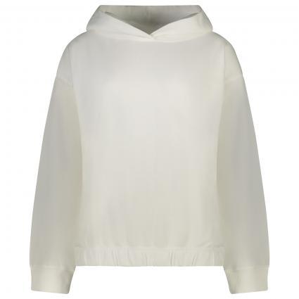 Hoodie mit breiten Bündchen weiss (100 white) | XS
