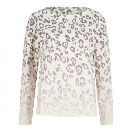 Sweatshirt mit Animal-Muster ecru (230 eggshell) | S