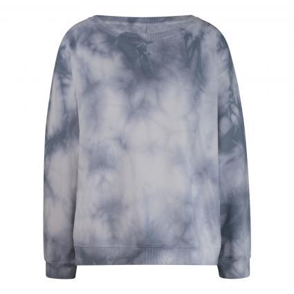 Sweatshirt in Batik-Optik blau (828 pearl blue) | S