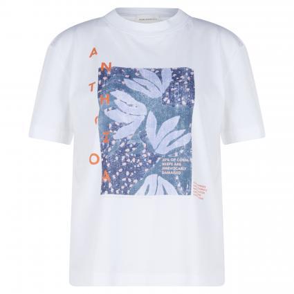 T-Shirt 'Miaa' mit Frontprint weiss (188 white)   L