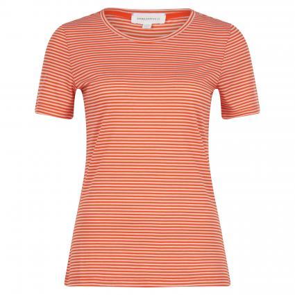 T-Shirt 'Lidiaa' mit Streifenmuster orange (1494 glossy orange-k) | S