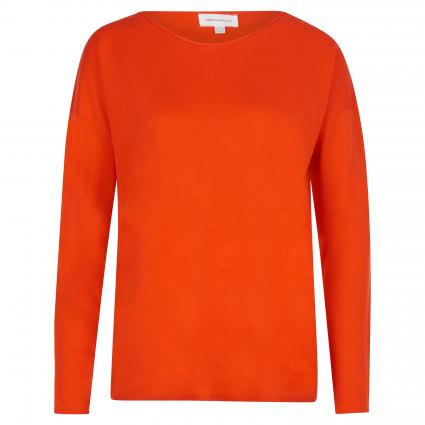 Leichter Pullover mit Rundhalsausschnitt orange (1099 glossy orange)   S
