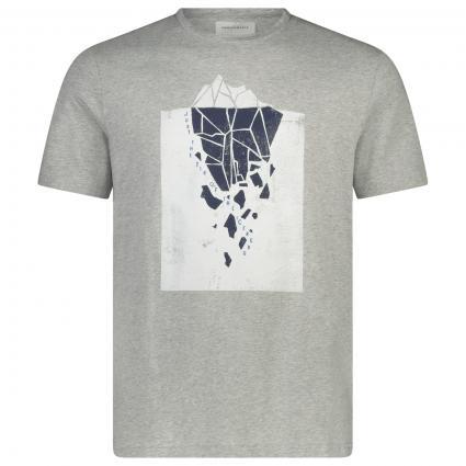 T-Shirt mit frontalem Print  grau (139 grey melange) | M