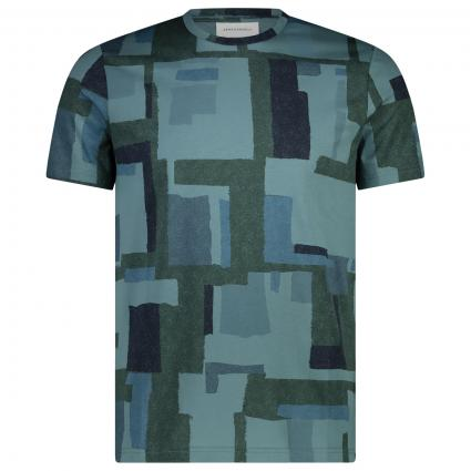 T-Shirt 'Jaames' mit All-Over Muster  grün (284 sea green) | S