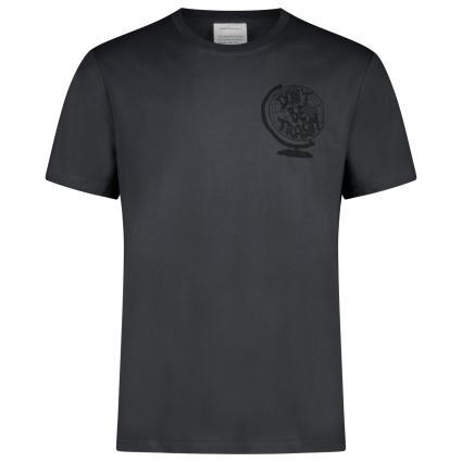 T-Shirt mit frontalem Print  schwarz (100 acid black) | M
