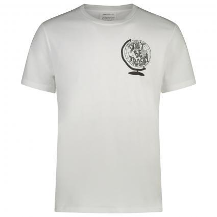 T-Shirt mit frontalem Print  weiss (188 white)   M