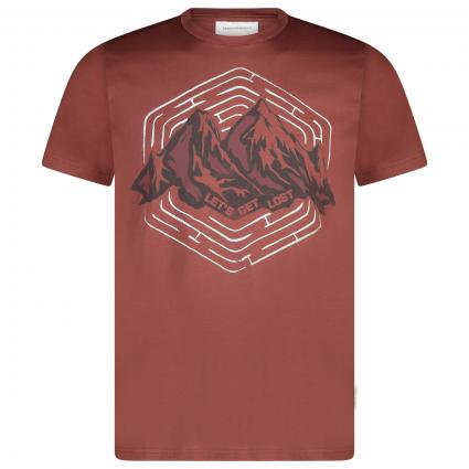T-Shirt aus Bio-Baumwolle cognac (1463 sable red) | S