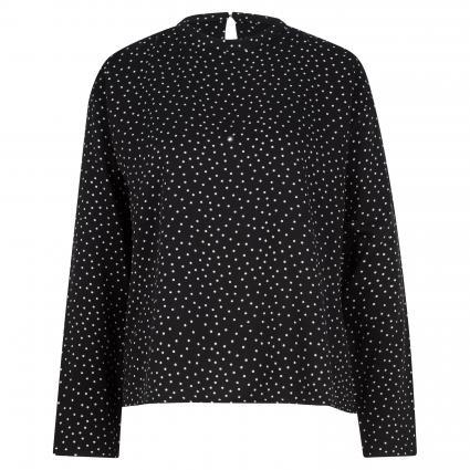 Bluse 'Armaalur' mit Punktemuster schwarz (105 black) | L