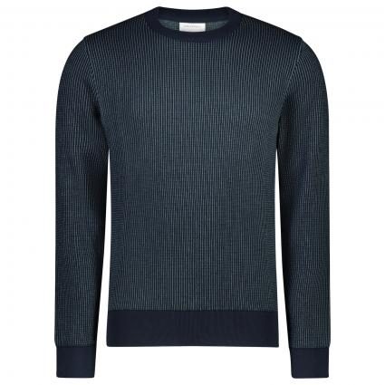 Pullover 'Laavo' mit All-Over Muster  marine (1479 depth navy-sea) | XL