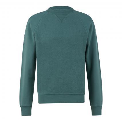 Sweatshirt 'Nikolaa' aus reiner Baumwolle  grün (1628 silver pine) | S