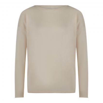 Leichter Pullover mit Rundhalsausschnitt ecru (1609 oatmilk) | S