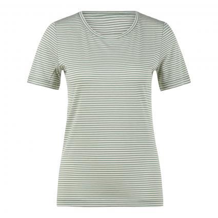 T-Shirt 'Lidiaa' mit Streifenmuster grün (1649 matcha-oatmilk) | L