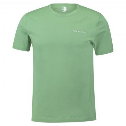 T-Shirt 'Jaames' mit Schriftzug grün (1597 misty grass) | XL