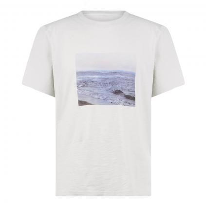 T-Shirt mit Front-Print  grau (1632 luna rock)   XL
